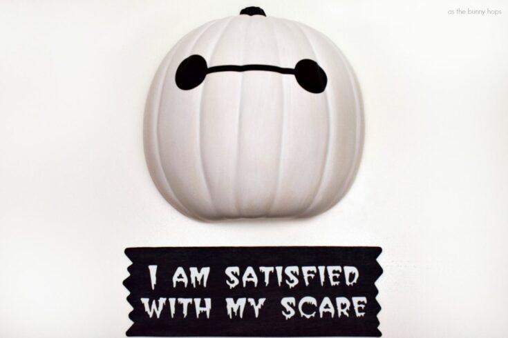 Baymax Pumpkin Halloween Wall Art with Patterns
