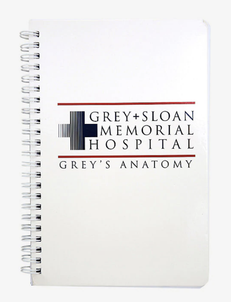 Grey's Anatomy Notebook