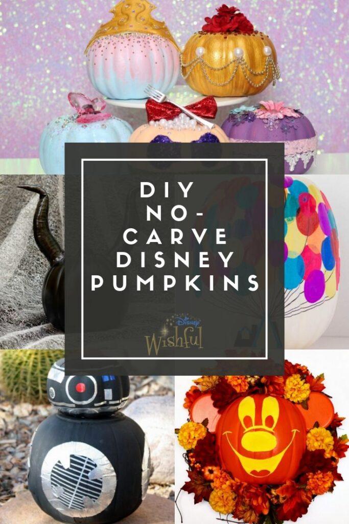 no-carve disney pumpkins